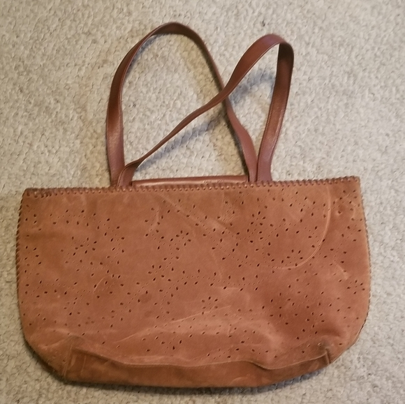 Kenneth Cole NY Handbags - Kenneth Cole NY Brown Suede Tote